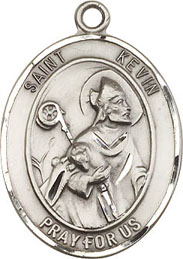 Religious Medals: St. Kevin SS Saint Medal