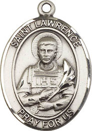 St. Lawrence SS Saint Medal