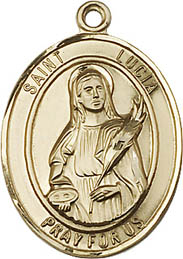 Religious Medals: St. Lucia GF Saint Medal