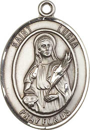 Religious Medals: St. Lucia of Syracuse SS Medal