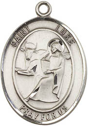 Religious Medals: St. Luke the Apostle SS Medal