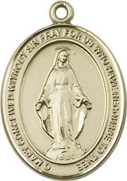 Religious Medals: Miraculous GF Religious Medal