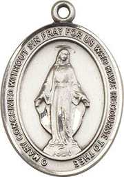 Religious Medals: Miraculous SS Saint Medal