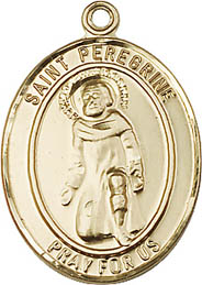 Religious Medals: St. Peregrine GF Saint Medal