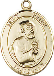 Religious Medals: St. Peter GF Saint Medal