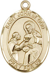 St. John of God GF Saint Medal