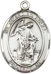 Religious Medals: Guardian Angel SS Saint Medal