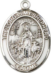 Religious Medals: Lord is my Shepherd SS Mdl