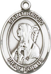 Religious Medals: St. Brigid of Ireland SS Medal