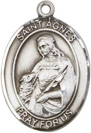 Religious Medals: St. Agnes SS Saint Medal
