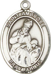 Religious Medals: St. Ambrose SS Saint Medal