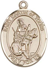 Religious Medals: St. Martin of Tours GF Medal
