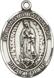 Religious Medals: Our Lady of Guadalupe SS Medal