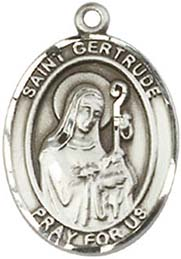 Religious Medals: St. Gertrude of Nivelles SS Md