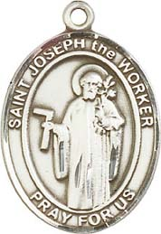 Religious Medals: St. Joseph the Worker SS Medal