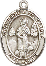 Religious Medals: St. Isidore the Farmer SS Mdl