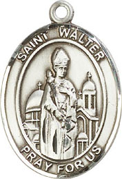 Religious Medals: St. Walter of Pontnoise SS Mdl