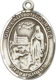 Religious Medals: Our Lady of Lourdes SS Mdl