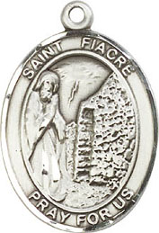 Religious Medals: St. Fiacre SS Saint Medal