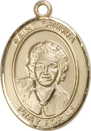 Religious Medals: St. Gianna B Molla GF Medal