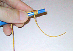Making Knots in Cord Rosaries with Beads
